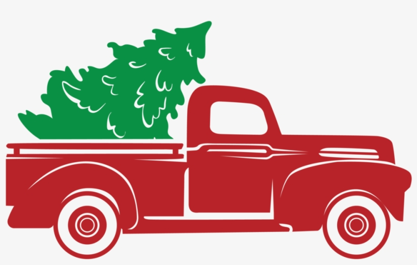 Red Truck Christmas Tree Stencil Only Christmas Truck Svg Free Png Image Transparent Png Free Download On Seekpng