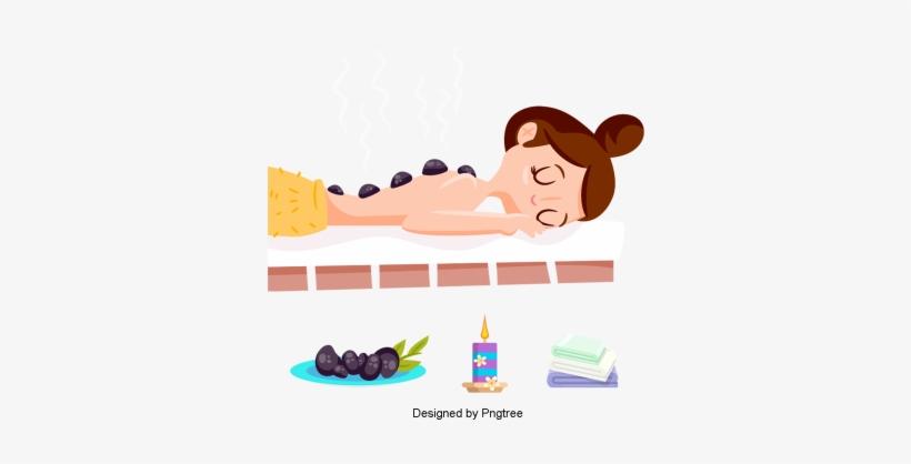 Cartoon Hand Painted Woman Beauty Care Design Cartoon Spa Å¥³å© ō¡é€š Png Image Transparent Png Free Download On Seekpng