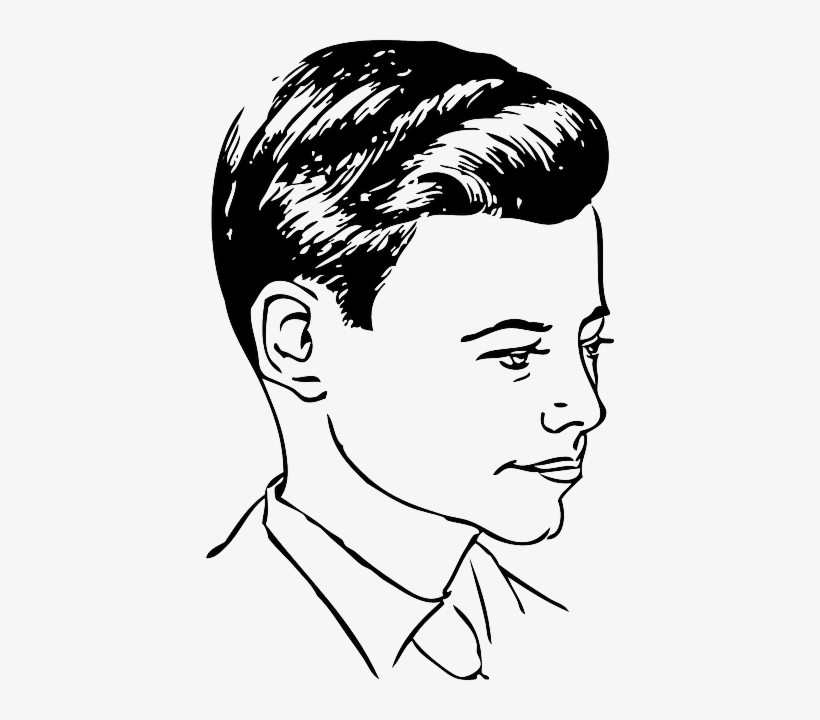 Part Men Medium Side Automatic Haircut Hairstyles Gents