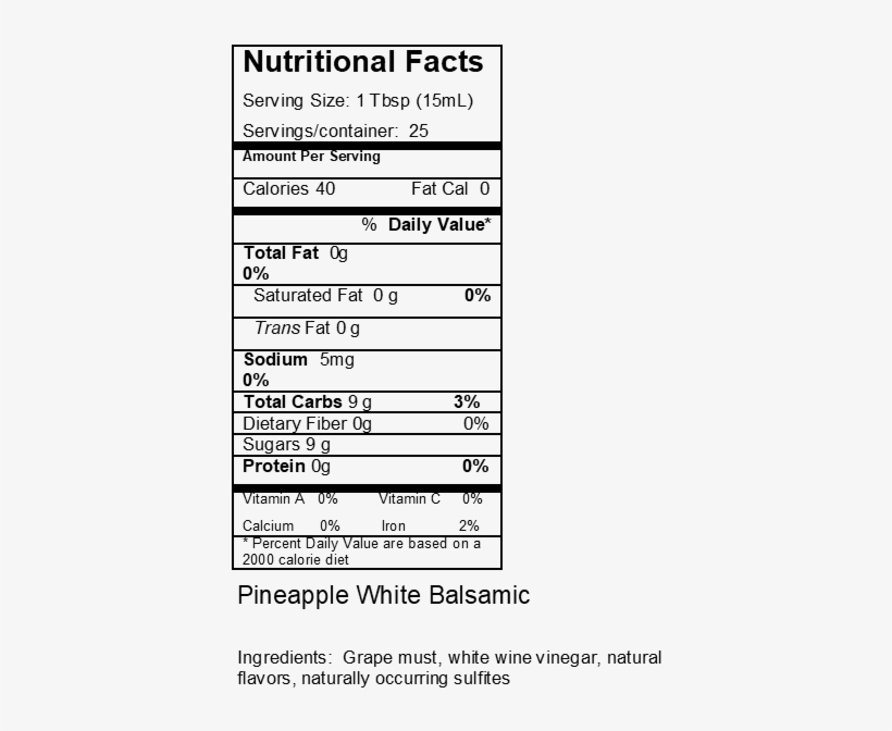 Pineapple - Greek Yogurt Nutrition Facts PNG Image