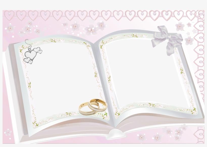 Transparent Pink Wedding Frame Wedding Pics, Wedding - Psd