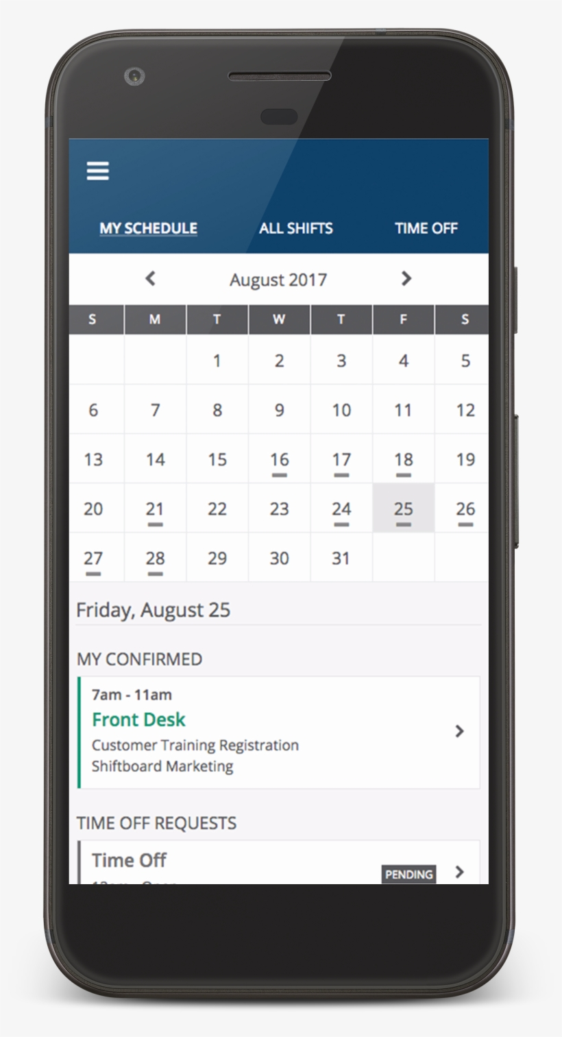 Members Will Want To Use The Calendar View When Requesting