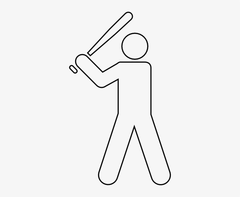 Baseball Player Outline@seekpng.com