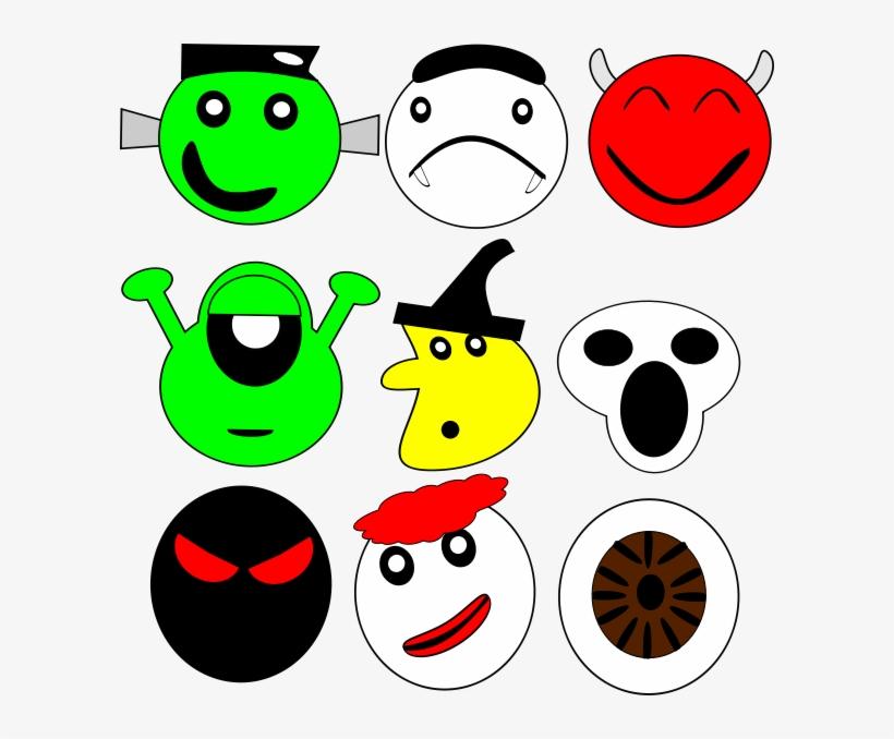 Scarey Faces Png Images Mascaras Para Imprimir Halloween Png