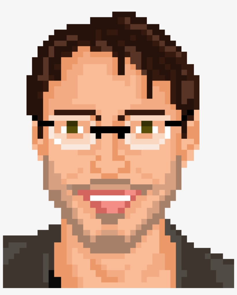 Pixelated Face - Pixelated Head PNG Image