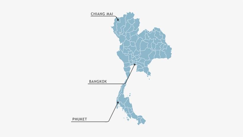 Thailand - Thailand Map Illust@seekpng.com