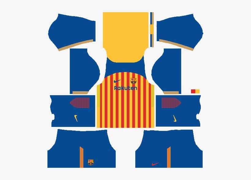 the latest ee46a e8acb Fc Barcelona Senyera Kit - Barcelona Kit 2018 Dream League ...