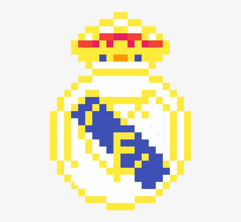 Real Madrid Logo Real Madrid Pixel Art Png Image