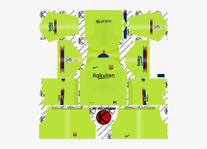 2b7c55ed5f7 Barcelona 2018/19 Nike Kit - Dream League Soccer Kits Psg 2019 PNG ...