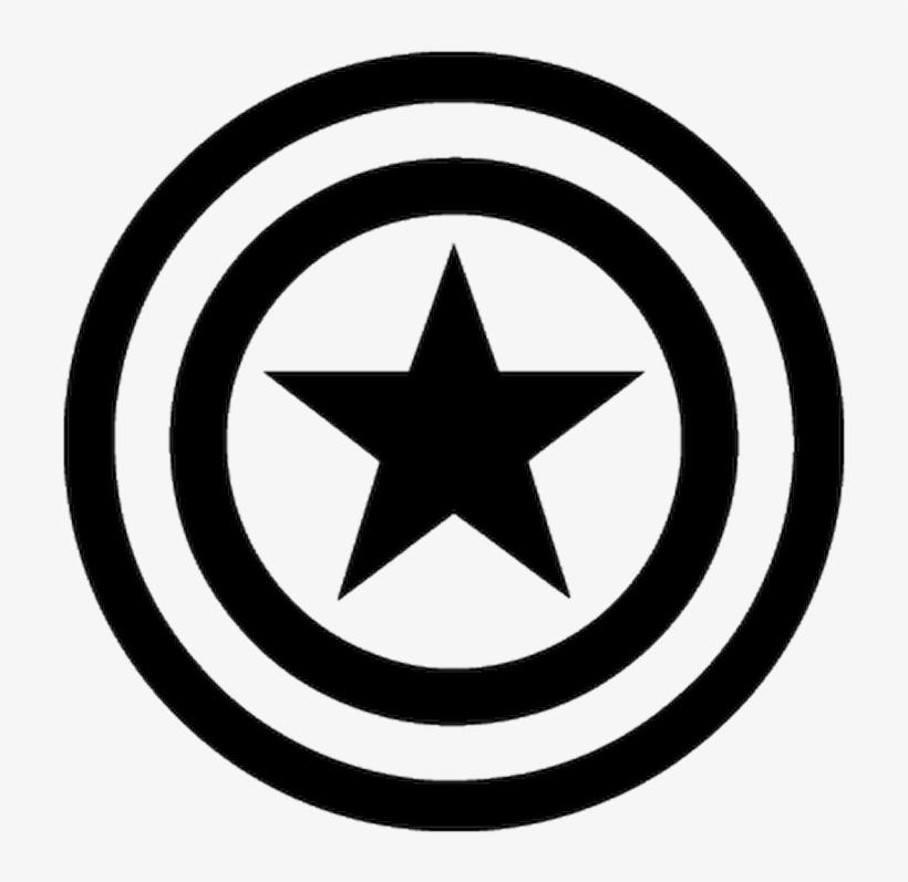 Fantastique Pochoir Captain America Logo - Black And White Superhero Logos PNG FX-28