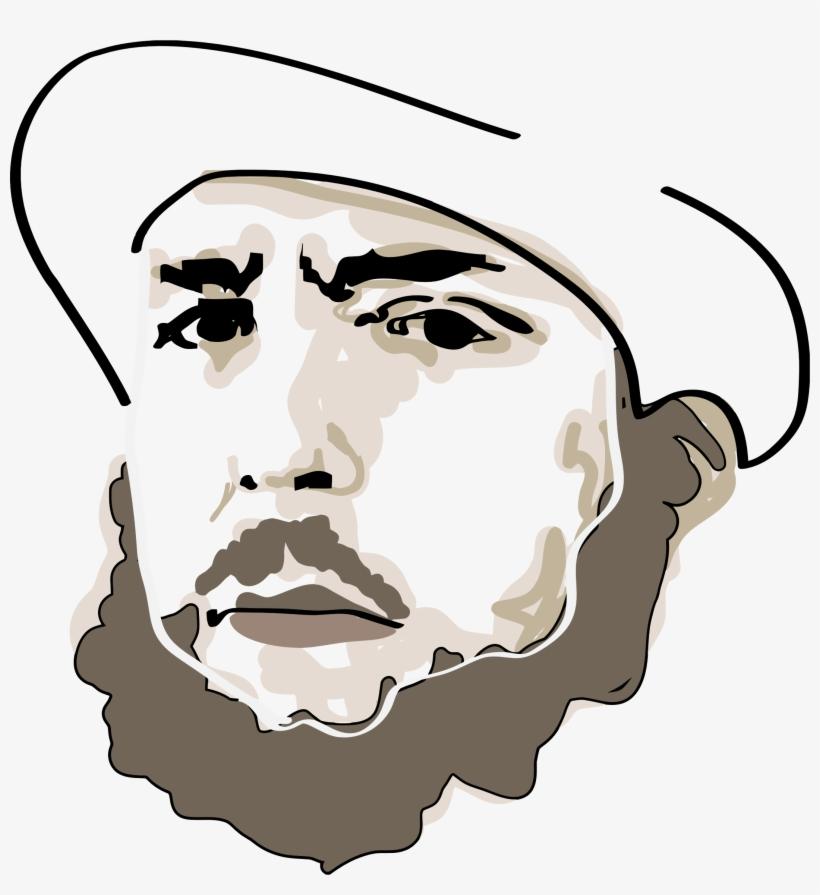 Clip Transparent Library Beard Clipart Man Portrait Rosto De