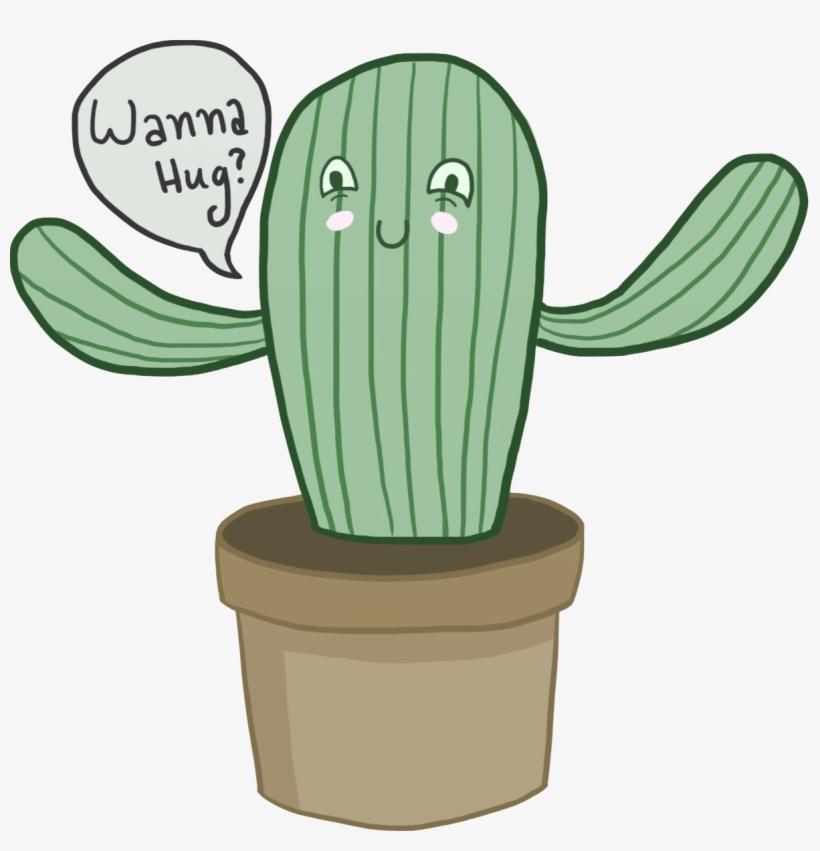 Cactus Drawing Tumblr Transparent Cactus Wanna Hug Png Png Image
