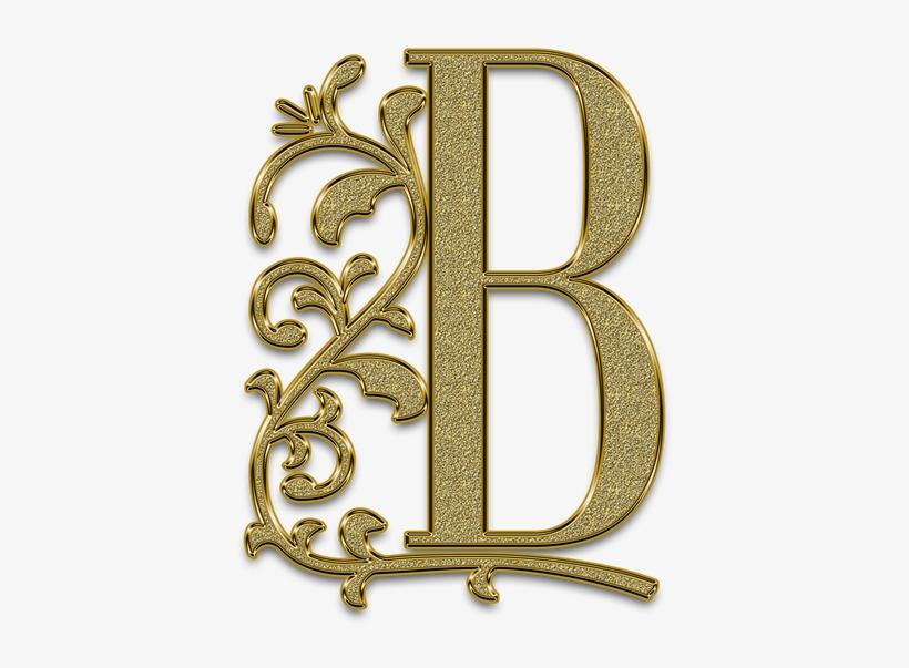 Letter, Monogram, Golden, Gold, Font, Letters, Ligature - Png Letter