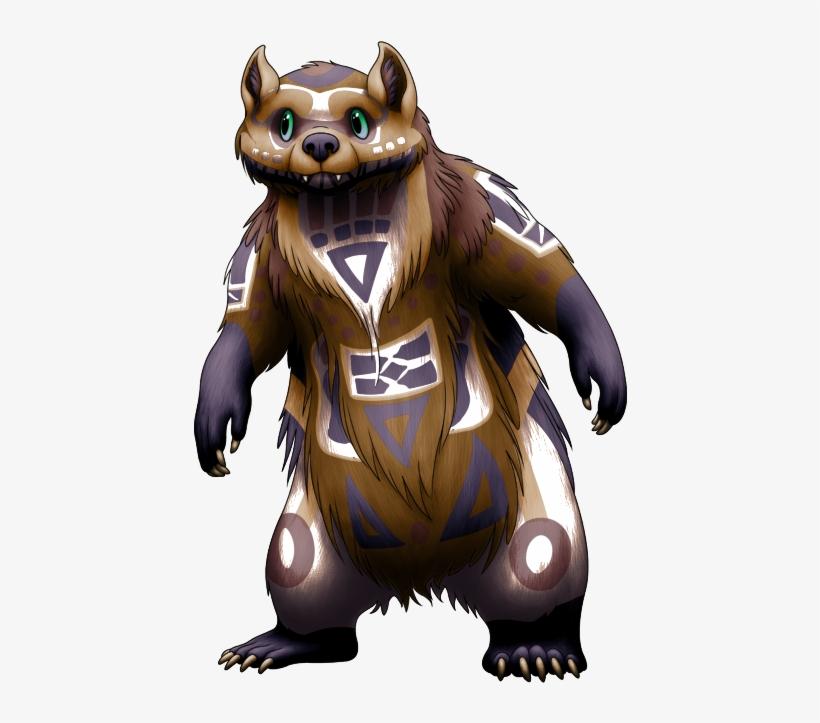 Bear Mask Senpai's Totem Mwolo - Cartoon PNG Image