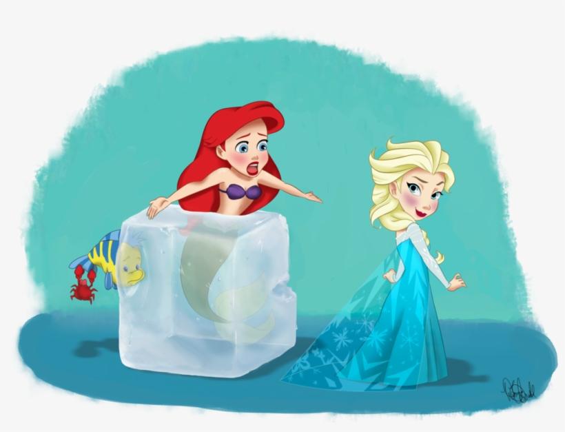 Princesses Disney Fond D Ecran Titled Ariel And Elsa Elsa And