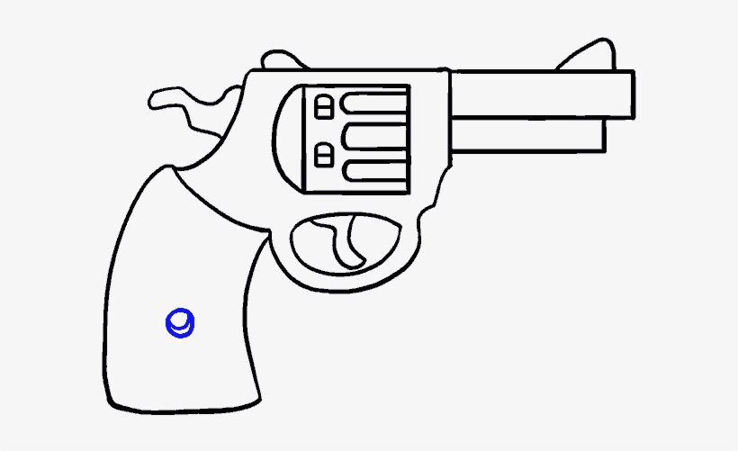 How To Draw A Cartoon Revolver In A Few Easy Steps Cartoon Drawing Of A Gun Png Image Transparent Png Free Download On Seekpng