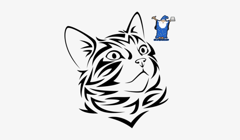 Http - //www - Officialpsds - - Cat Looking Up Drawing PNG