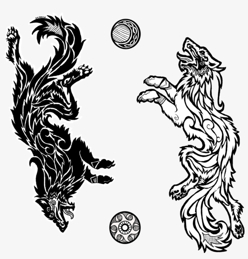 e23d61960 Sons Of Fenrir By Da-lizzard - Nordic Wolf Tattoo Designs PNG Image ...