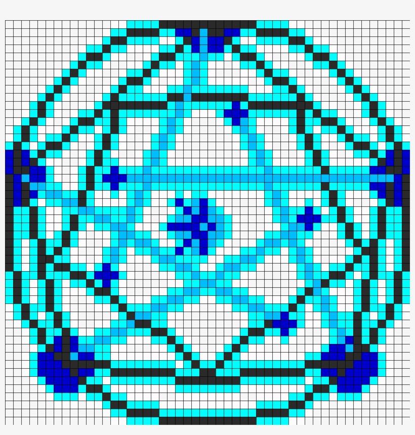 Human Transmutation Circle Fma Perler Bead Pattern