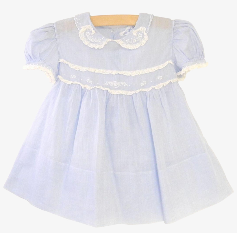 c5e6d0bc01d2 Saks Fifth Avenue Blue And White Lace Baby Girl Dress - Dress PNG ...