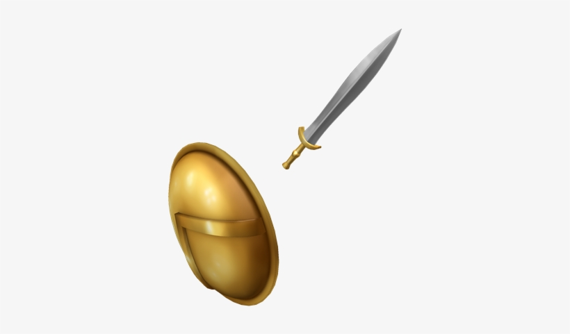Spartan Sword And Shield - Roblox Sword And Shield PNG Image