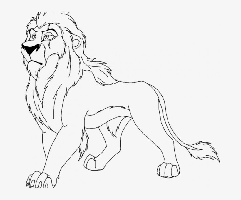 Scar Coloring Page Lion King Scar Free Coloring Page Scar Lion King Drawing Png Image Transparent Png Free Download On Seekpng
