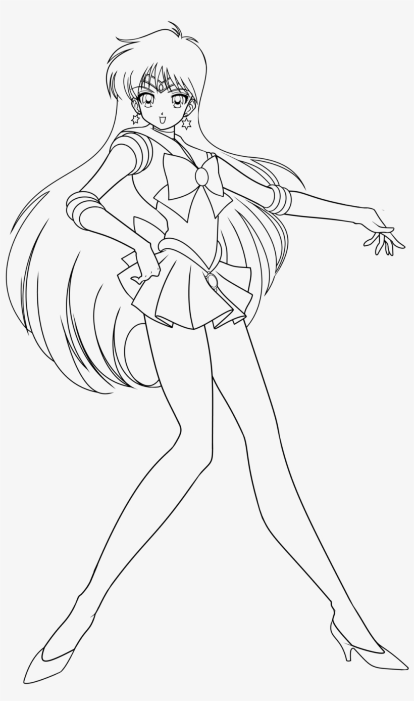 Coloriage Sailor Mars Dessin Ron Harry Hermione Coloring Pages Png