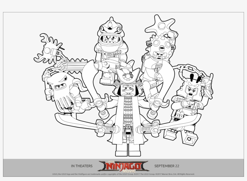 Lego Ninjago Printables - Lego Ninjago Movie Coloring Pages PNG Image  Transparent PNG Free Download On SeekPNG