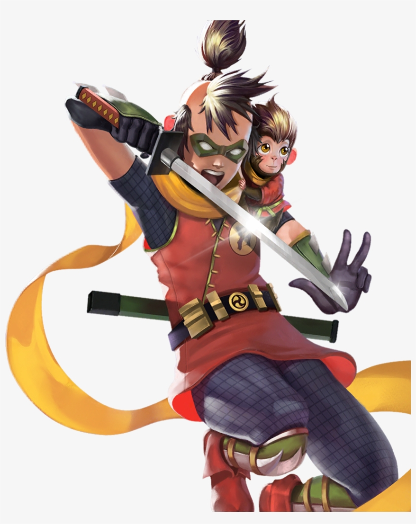 Damian Wayne And Monkichi Batman Ninja Png Image Transparent Png Free Download On Seekpng