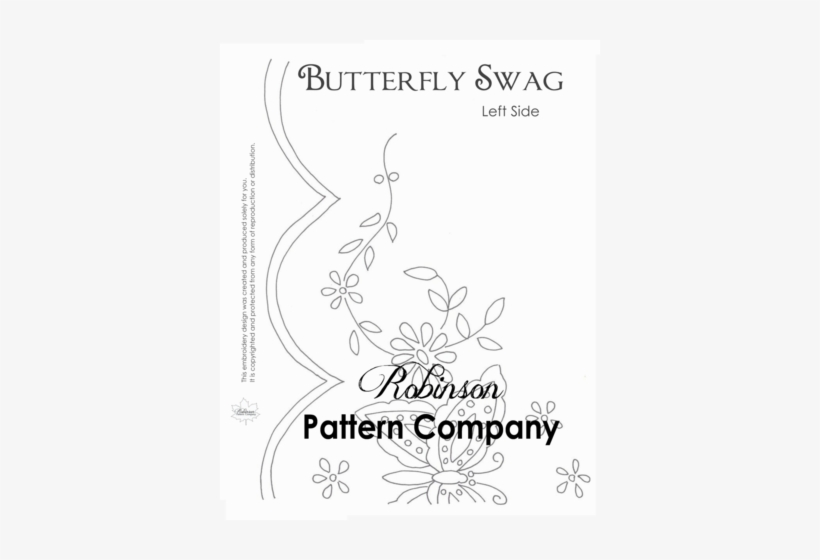 Butterfly Swag Hand Embroidery Pattern Embroidery Png
