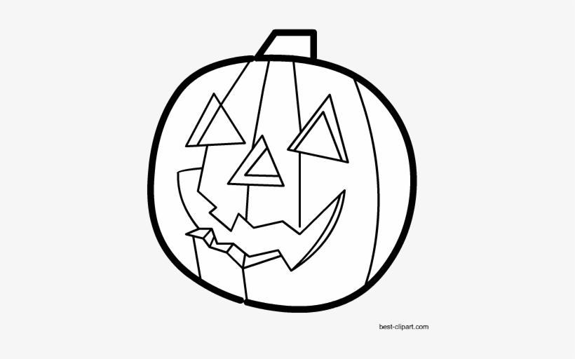 Black And White Jack O Lantern Clipart Free Jack O Lantern Png Image Transparent Png Free Download On Seekpng
