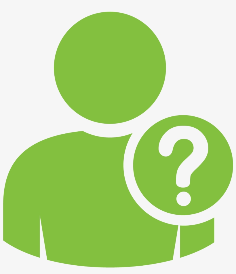 Question Mark Clipart Lime Green - Person Icon With ...