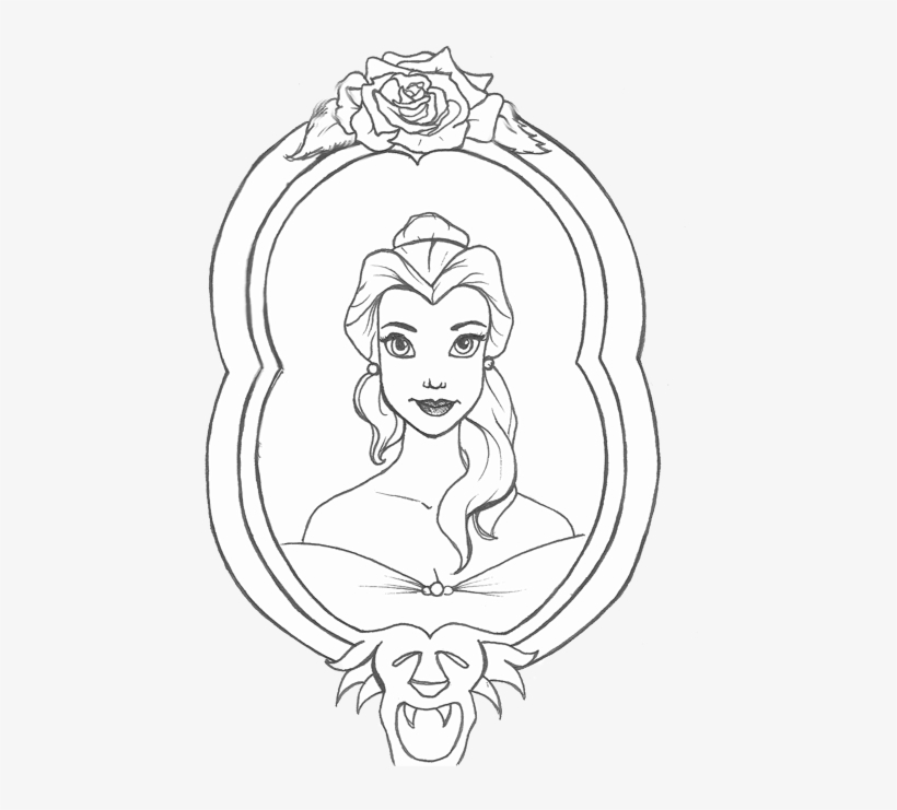 28 Collection Of Beauty And The Beast Mirror Drawing Beauty And