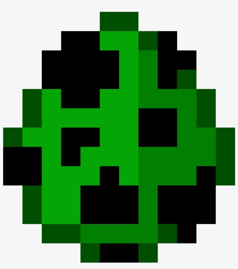 Creeper Spawn Egg Minecraft Eggs Png Image Transparent