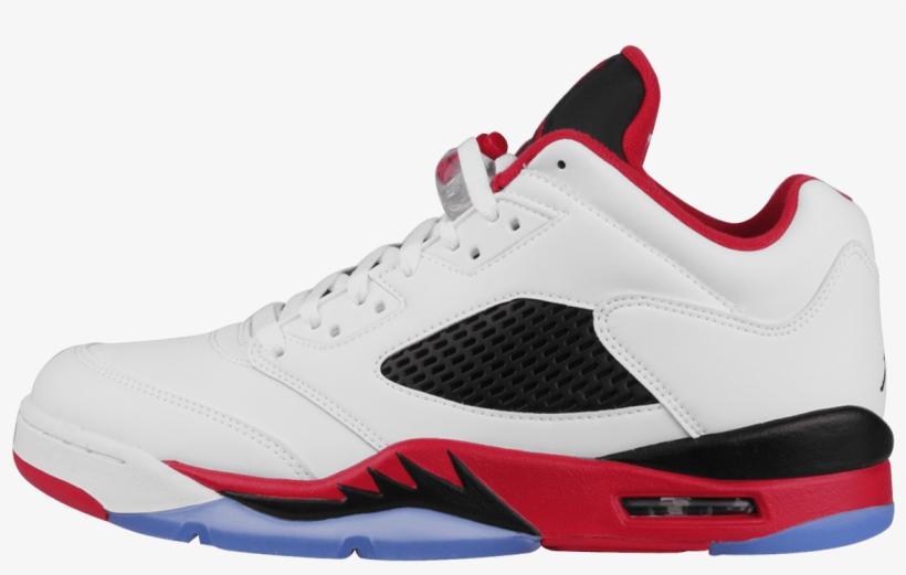 save off a72cc b7e8b Nike 5 Retro Low White / Fire Red / Black - Boys Jordan ...