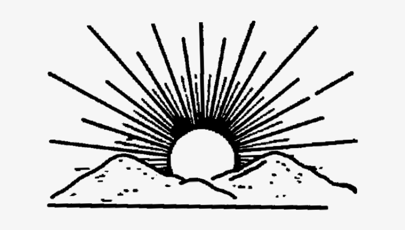 Rising Sun Clipart Rising Sun Black And White Png Image