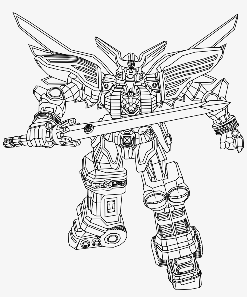 Power Rangers Dino Charge Ptera Zord Coloring Pages Power