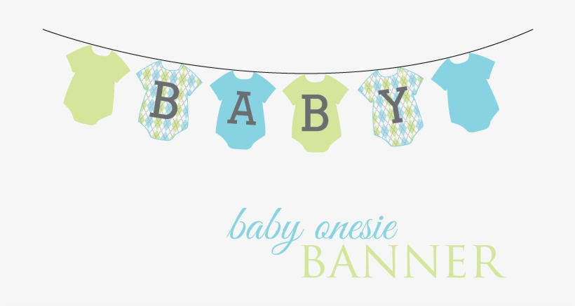 Onesie Banner Download Here Baby Shower Banner Png Png Image