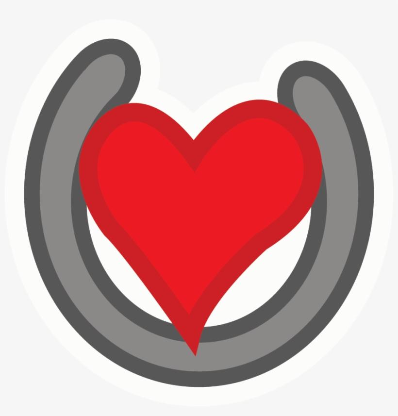 Horseshoe heart. Hearts clipart horse shoe