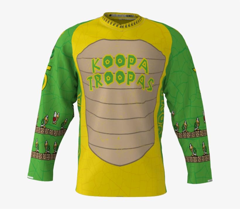 33b38e4332d Koopa Troopas Custom Roller Hockey Jersey - Jersey PNG Image ...