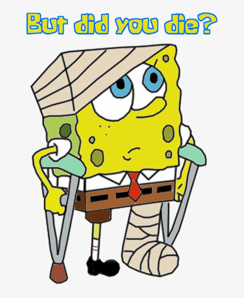 Filter injured spongebob break a leg transparent png download