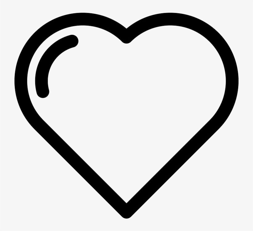 Heart Icon Transparent Icon Symbol Love Black Png Image