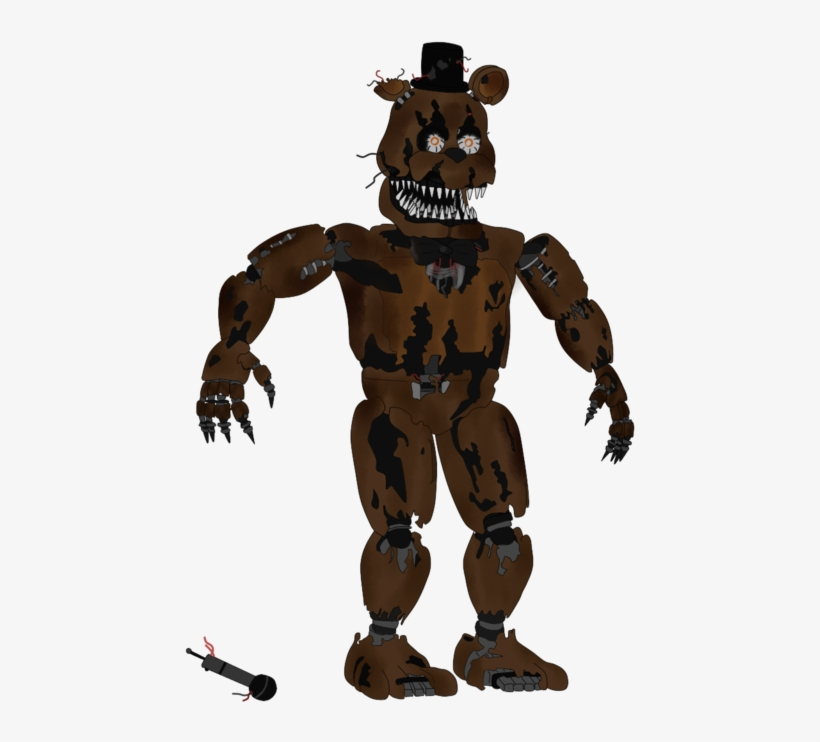 Nightmare Freddy Five Nights At Freddy S Nightmare Freddy 5 Inch Action Png Image Transparent Png Free Download On Seekpng