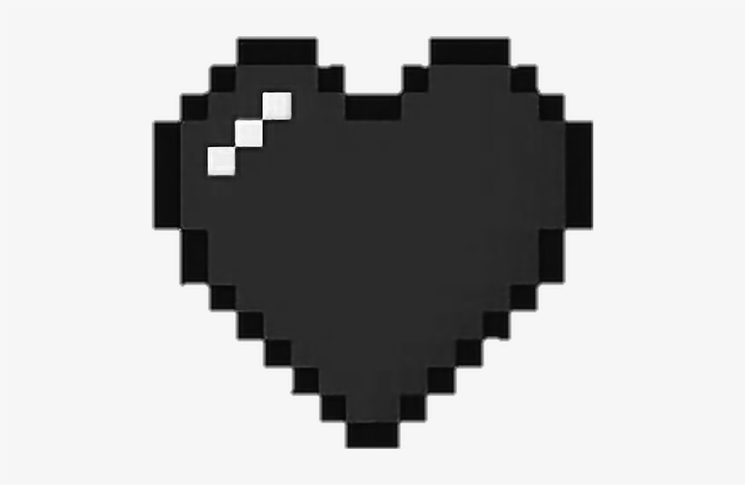 Pixel Black Heart Png Png Image Transparent Png Free Download On