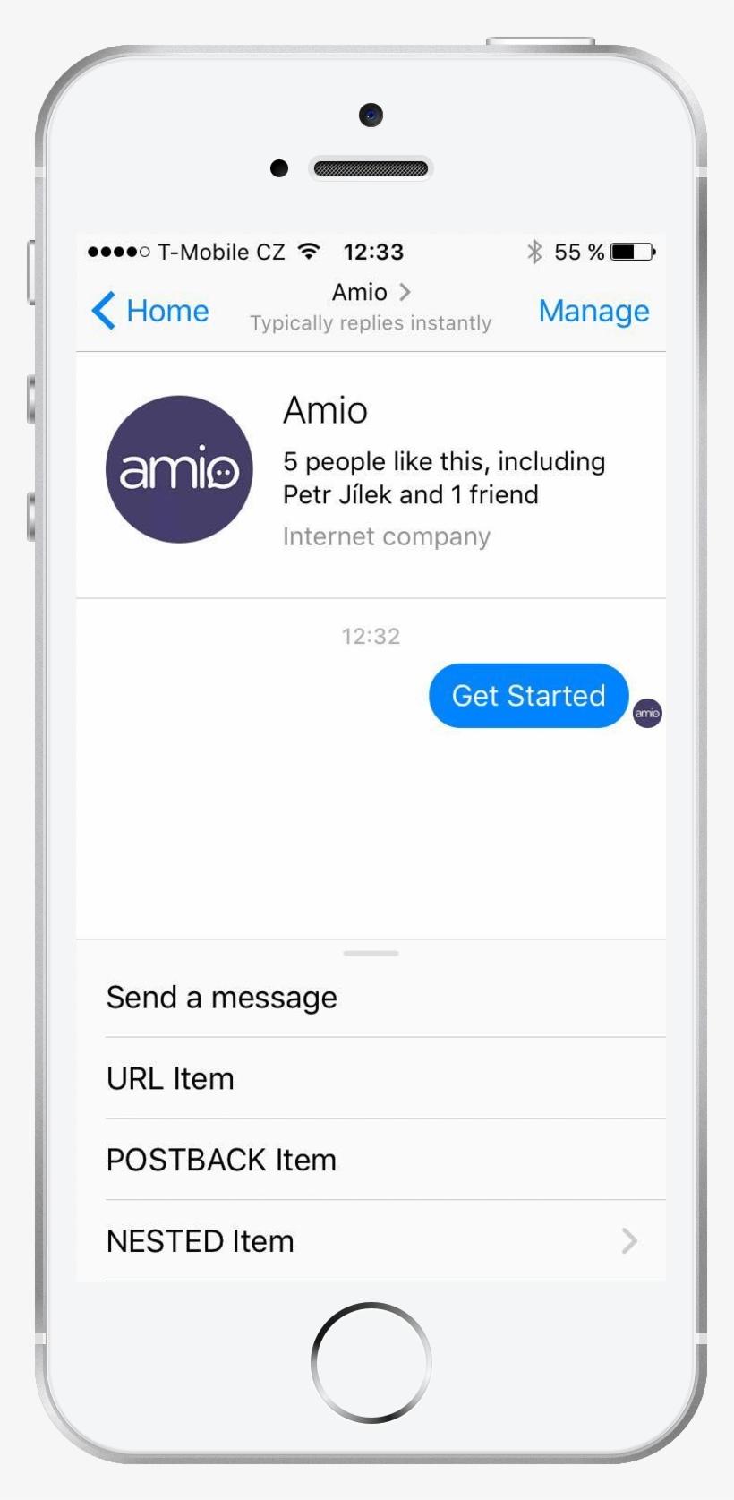 Menu In Facebook Messenger - Facebook Messenger Tags Message PNG