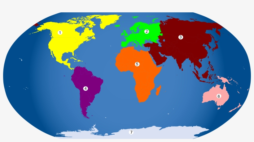 World Map Continent Europe - Continents Colored PNG Image ...