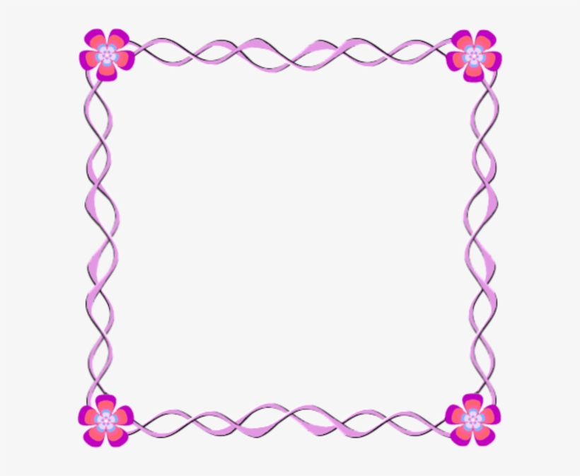Pink Flowers Frame Border Design Border Design Flower Pink Png