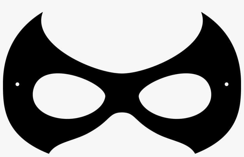graphic regarding Superhero Masks Printable identified as Superhero Mask Clipart Black And White - Robin Mask