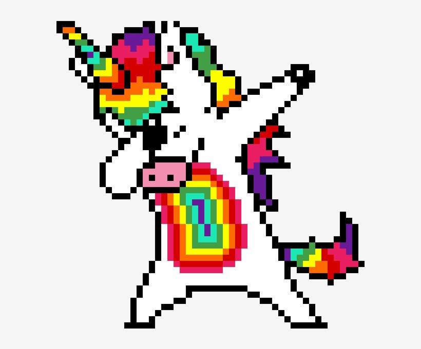 Dabbing Unicorn Omggggggggggggggg Pixel Art A Imprimer Png Image