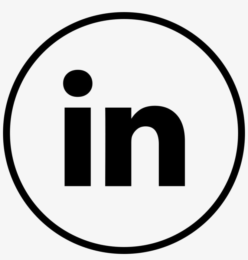 Font Linkedin White Linkedin Sign White Png Image